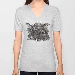 Hairy dog Unisex V-Neck