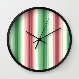 Christmas Time for Stripes Wall Clock