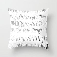 Cussed in Lines Throw Pillow