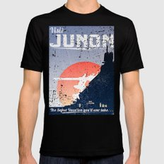 Final Fantasy VII - Visit Junon Propaganda Poster Black MEDIUM Mens Fitted Tee