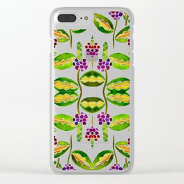 Floral vines Clear iPhone Case