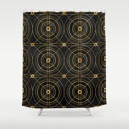 Lavish Art Deco 24-Karat Geometric Pattern Shower Curtain