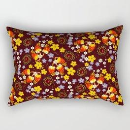Flowers and Berries Rectangular Pillow