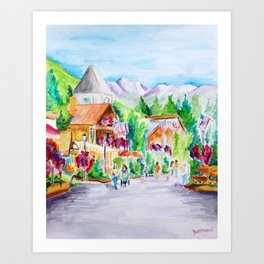Vail Village Colorado Watercolor Art Print