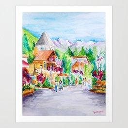 Vail Village Colorado Watercolor Art Print