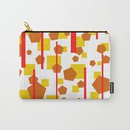 Rectangle Pentagon Stripes Design orange Carry-All Pouch