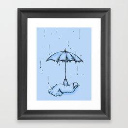 Rain Rain Go Away! Framed Art Print