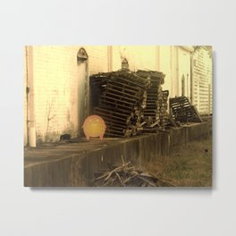 Lonely with Pallets Metal Print