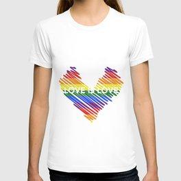 Rainbow, Love is Love, Pride LGBTQ T-shirt