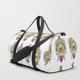 green mosaic turtle Duffle Bag