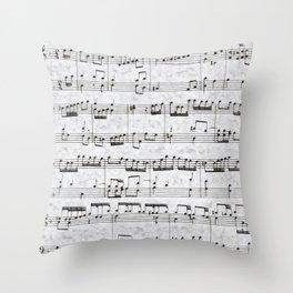 Nota Bene (white) Throw Pillow