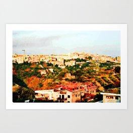 Catanzaro: view of the city Art Print