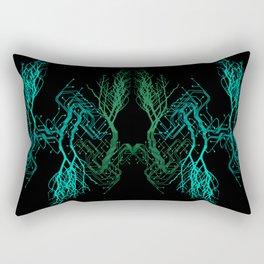 Techno Tree Rectangular Pillow