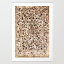 Silk Esfahan Persian Carpet Print Art Print