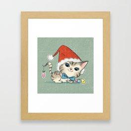 Christmas Kitty Framed Art Print