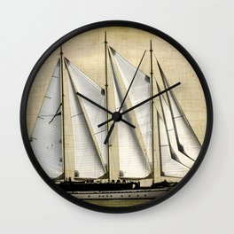 big sailboat Wall Clock