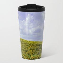 Field of Happiness - Sunflowers  Travel Mug