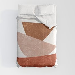 Abstract Bowls 1 - Terracotta Abstract - Modern, Minimal, Contemporary Print - Brown, Beige Comforters