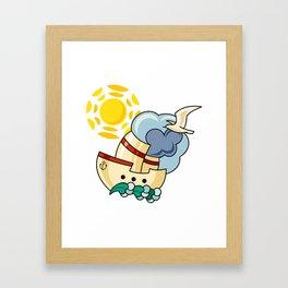 Happy cruising Framed Art Print