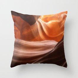 Swirls in Antelope Canyon - Page, Arizona Throw Pillow