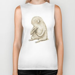 Sloth With Flower Biker Tank