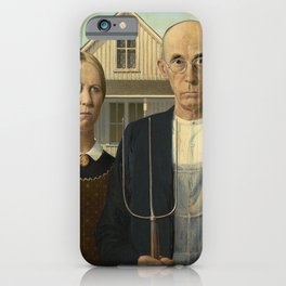 AMERICAN GOTHIC - GRANT WOOD iPhone Case