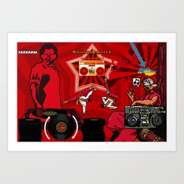 Sovieto DJ Art Print