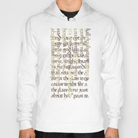 calligraphy Hoodies featuring Calligraphy Gothic by Cami Landia