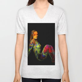 Paint Me Nude Unisex V-Neck