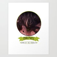 league of legends Art Prints featuring League Of Legends - Malphite by TheDrawingDuo