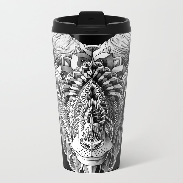 Ram Head Metal Travel Mug