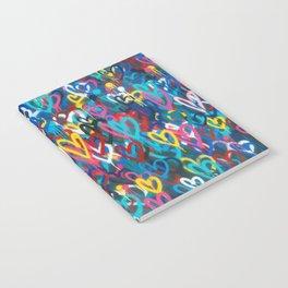 Graffiti Hearts Love (Color) Notebook