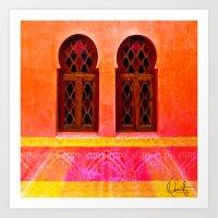 morocco Art Prints featuring Morocco  by Xchange Art Studio