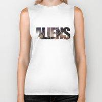 aliens Biker Tanks featuring Aliens by Jehzbell Black
