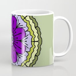 Mandala-purple and green Coffee Mug