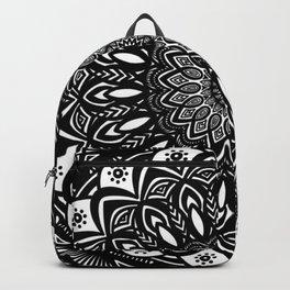Bold Mandala Black and White Simple Minimal Minimalistic Backpack
