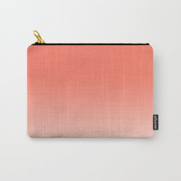 Coral Ombre, Dip Dye, Boho Carry-All Pouch