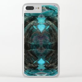 A Shifted Polypore Globe Clear iPhone Case