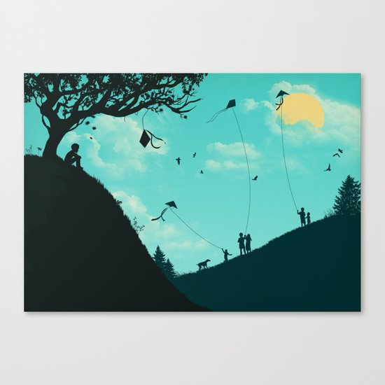 On Melancholy Hill Canvas Print