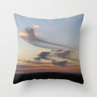 ships Throw Pillows featuring cloud ships by bstudio