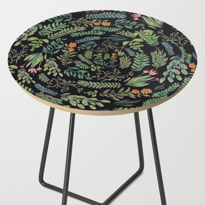 circular garden at nigth Side Table