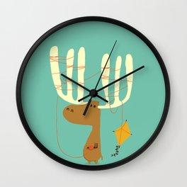 A moose ing Wall Clock