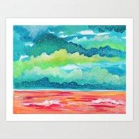 Abstract Seascape IV Art Print