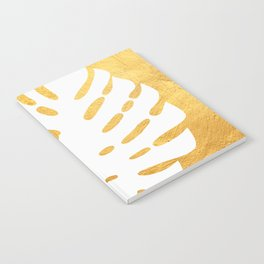 Golden leaf II Notebook