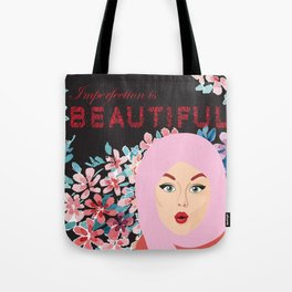 Imperfection is BEAUTIFUL (BLACK) Tote Bag