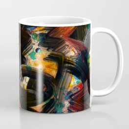 Back to Black Abstract Art Expressionism Coffee Mug