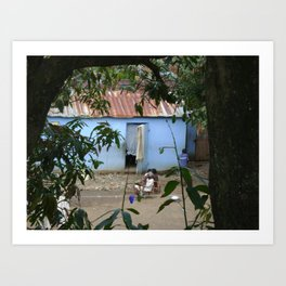 Village Life in Haiti Art Print