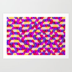 Myth Syzer - Neon (Pattern #12) Art Print