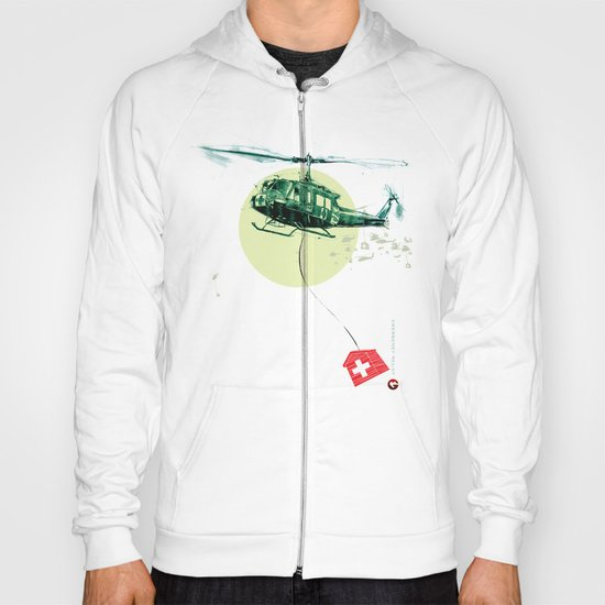 "Glue Network Print Series ""Emergency Relief"" Hoody"