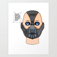 Bane!! Art Print